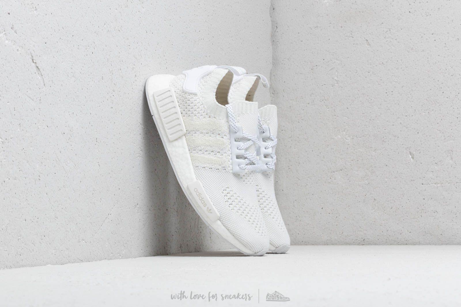 adidas NMD_R1 Primeknit Ftw White/ Ftw White/ Linen Green W super cenie 761 zł kupuj na Footshop.pl