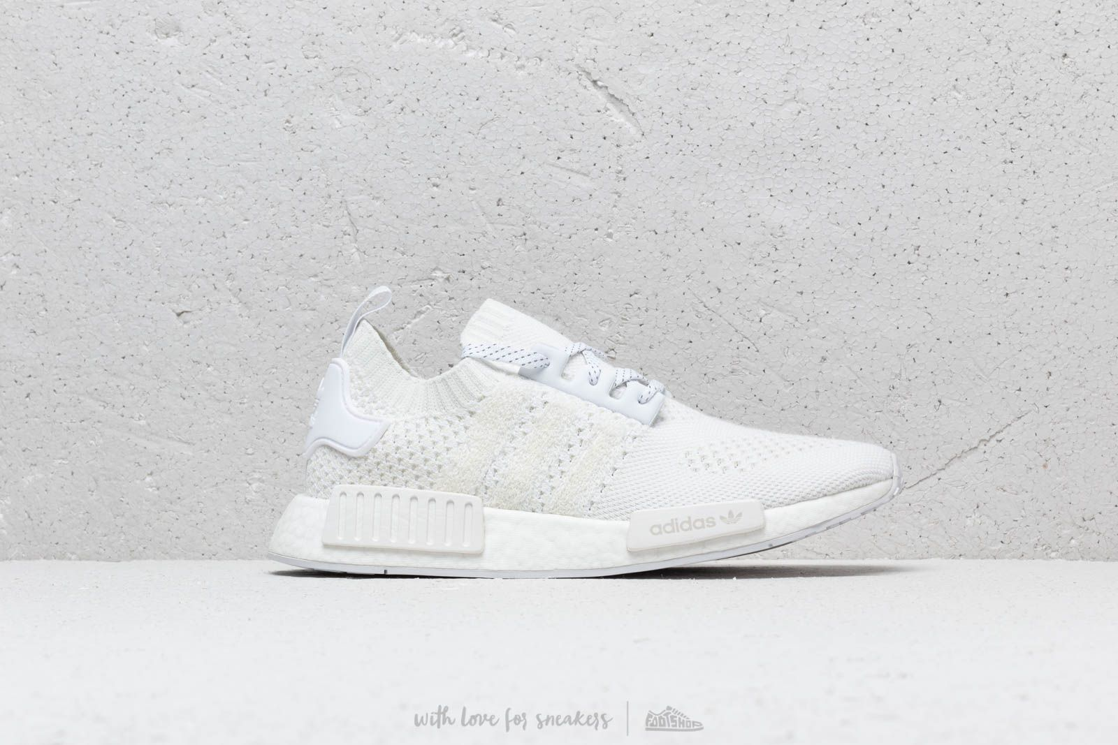 49d768ada932fc adidas NMD R1 Primeknit Ftw White  Ftw White  Linen Green at a great price  165