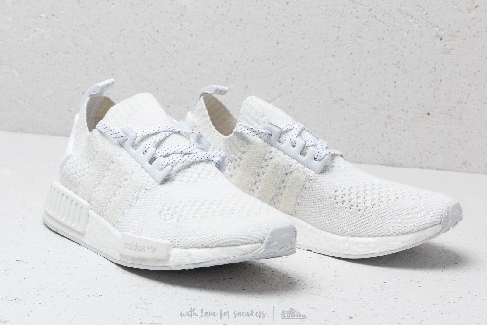 86be7412ebdc30 adidas NMD R1 Primeknit Ftw White  Ftw White  Linen Green at a great price £
