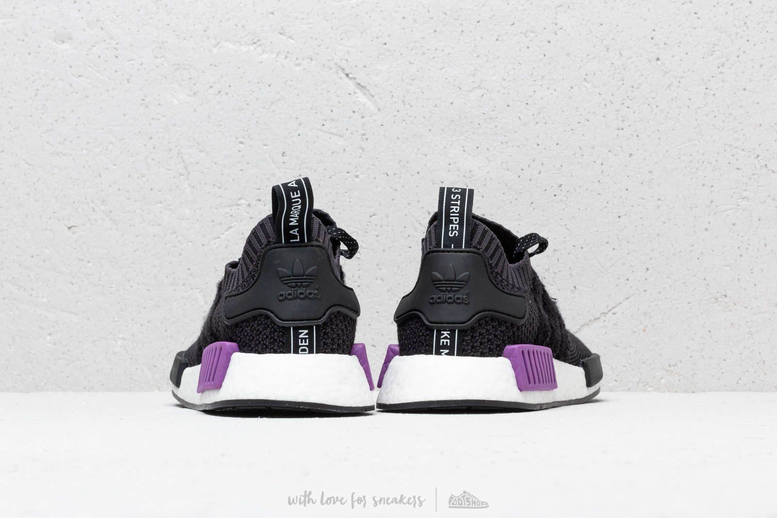 adidas NMD_R1 Primeknit Core Black Core Black Active Purple | Footshop