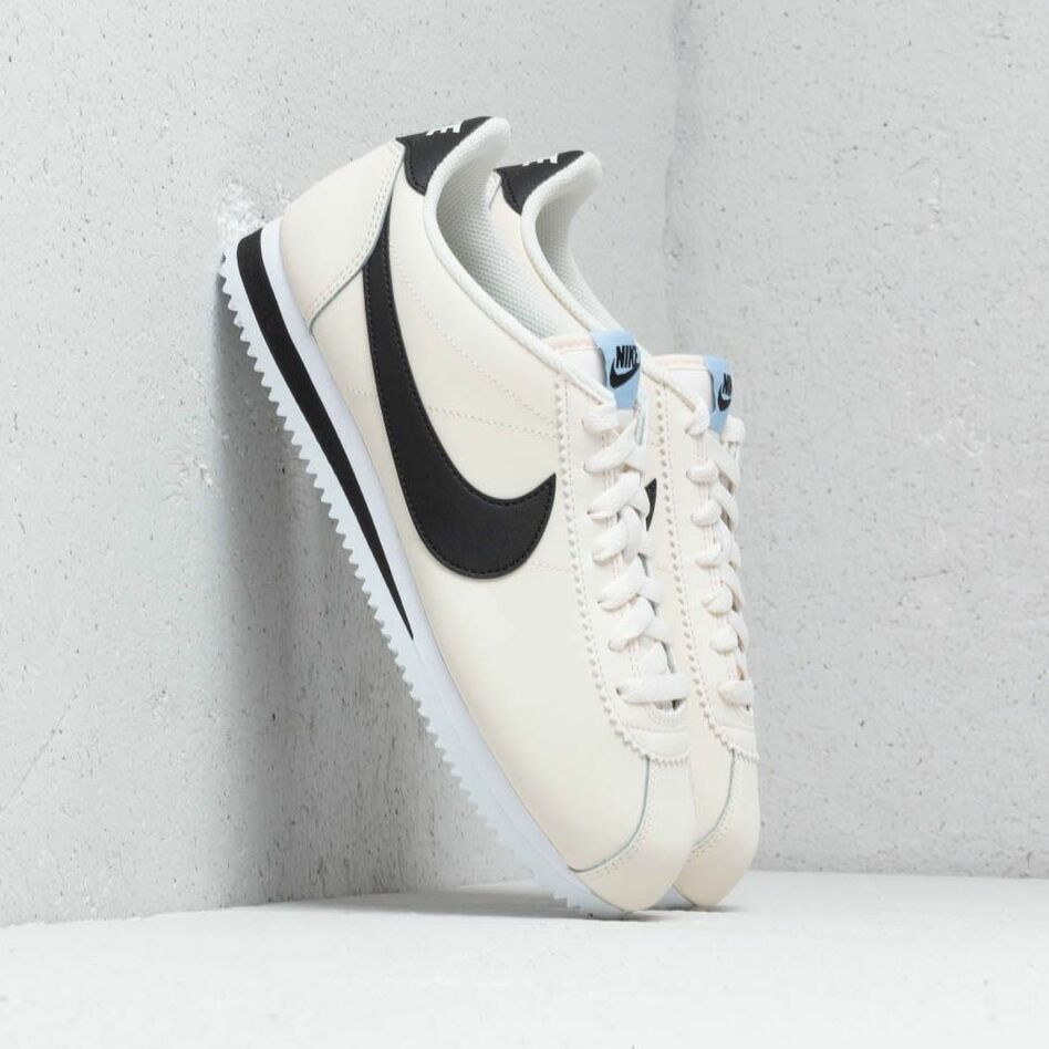 Nike Wmns Classic Cortez Leather Pale Ivory/ Black-Aluminum-White EUR 40.5