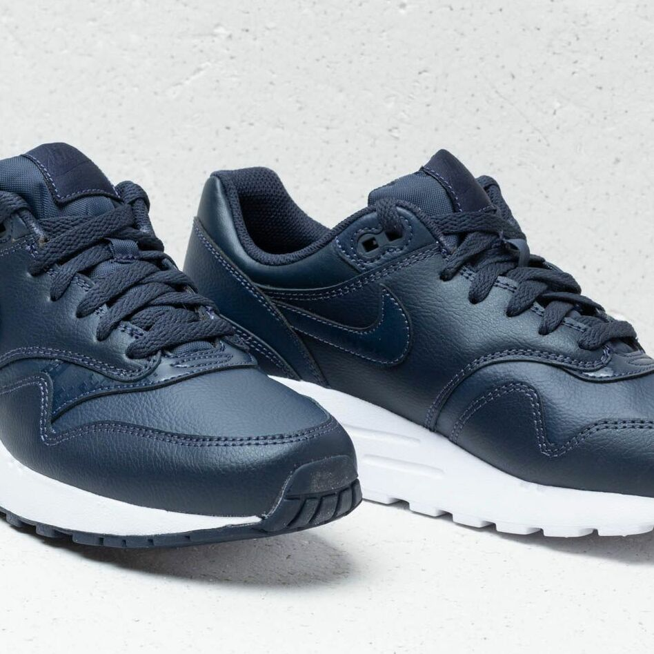 Nike Air Max 1 (GS) Obsidian/ Obsidian-White, Blue