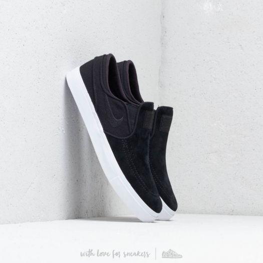 Nike Zoom Stefan Janoski Slip Black Black White   Footshop
