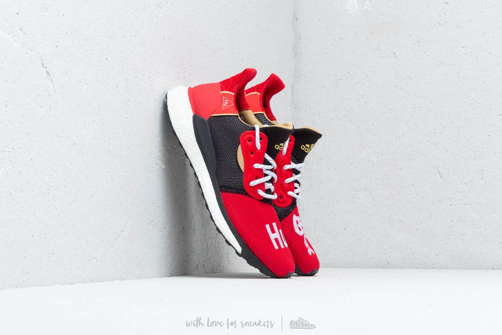 Misión flotador Corredor  Men's shoes adidas x Pharrell Williams Solar HU Glide CNY Red/ Core Black |  Footshop