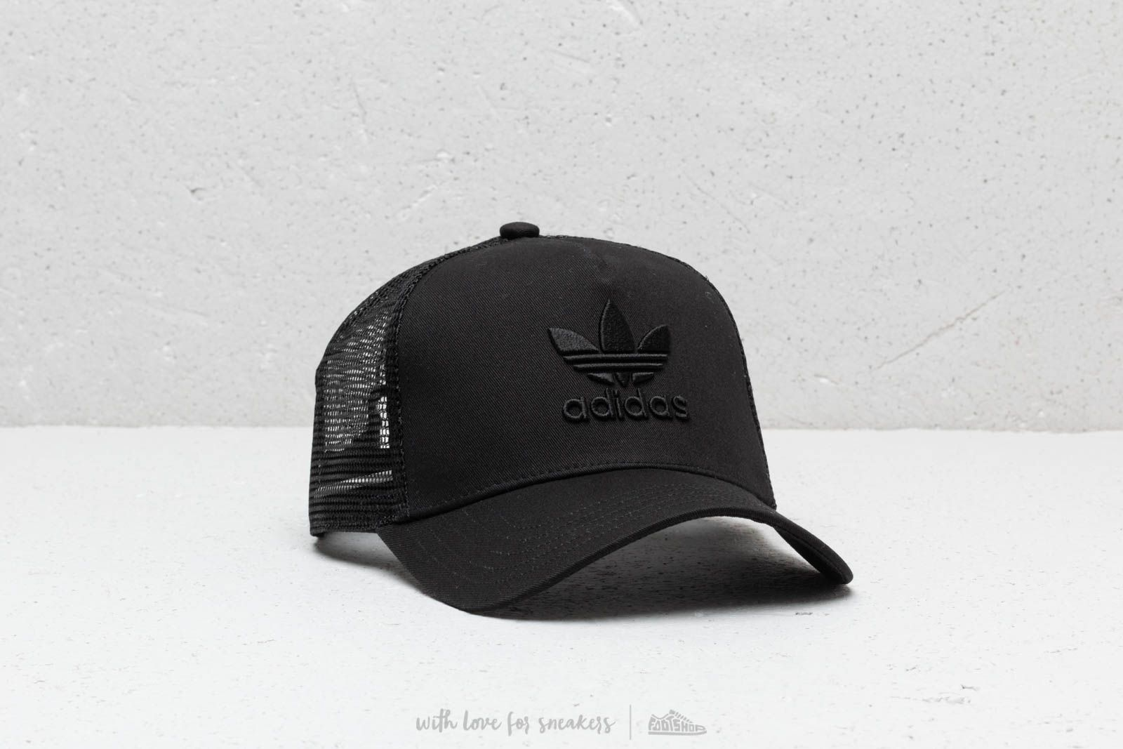 adidas Trefoil Trucker Hat Black