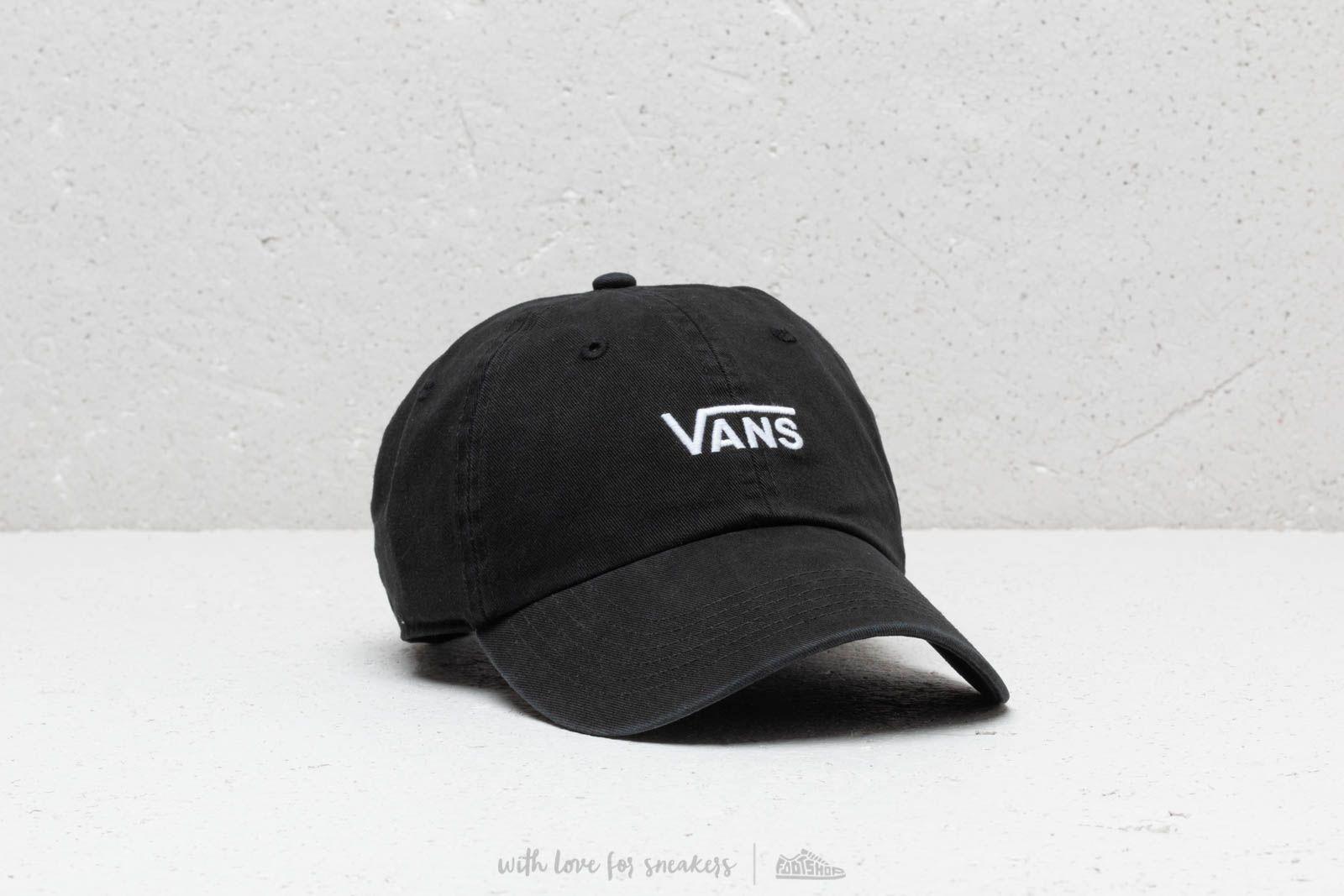 Čepice a kšiltovky Vans Court Side Hat Black/ White