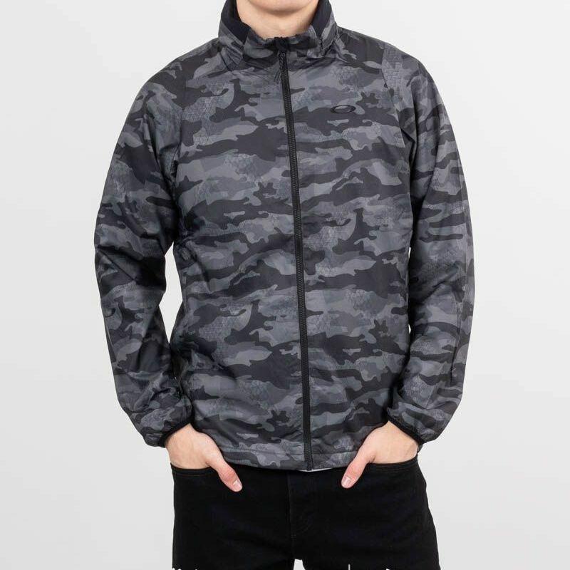 Oakley Enhance Graphic Wind Warm Jacket 8.7 Black Print, Gray