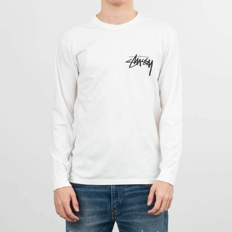 Stüssy Stock Pig Dyed Longsleeve Tee Natural