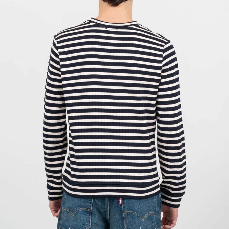 A.P.C. Mecano Ribbed Fleece Sweatshirt Dark Navy Blue