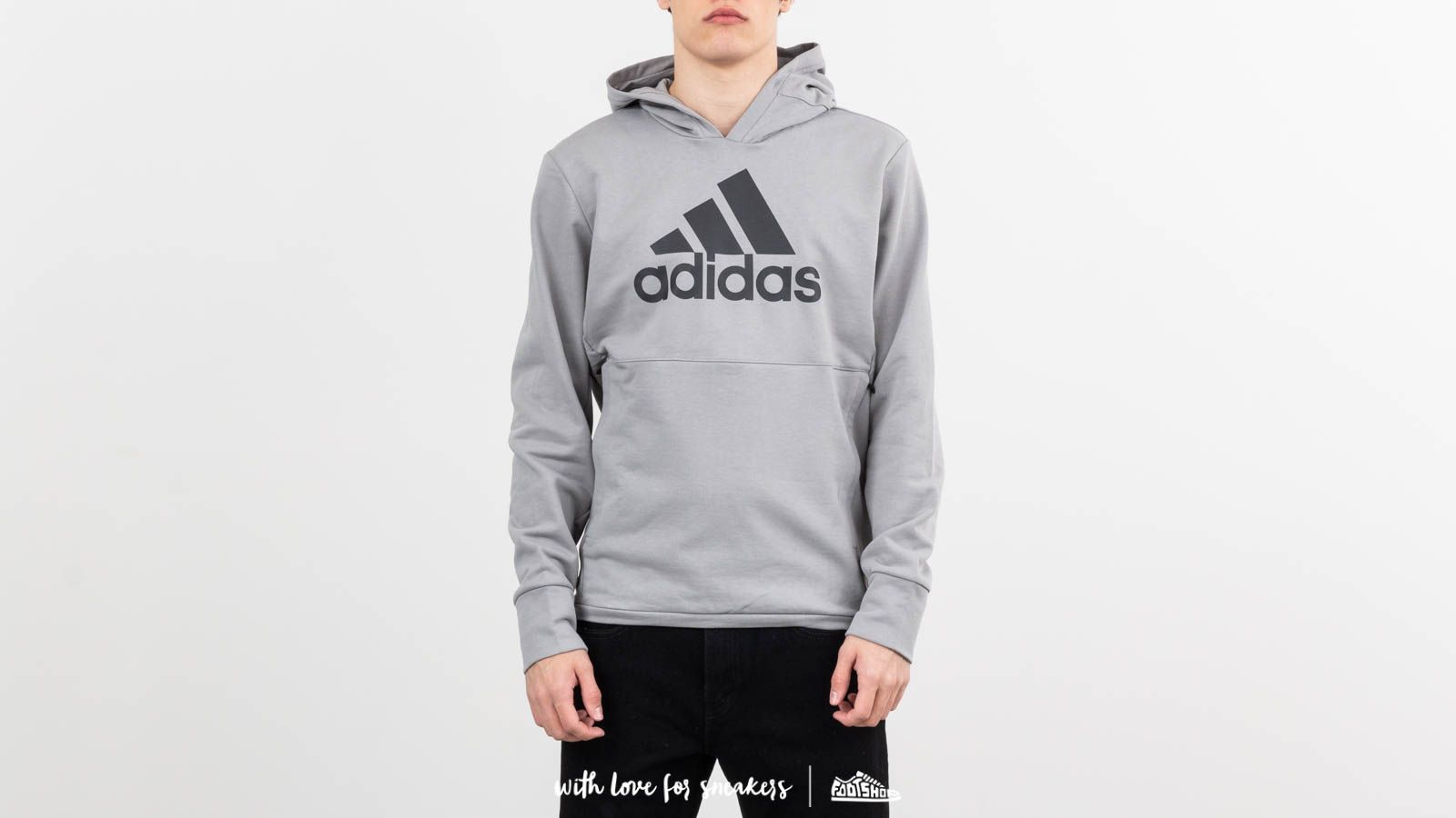 Mikiny a svetry adidas x Undefeated Tech Hoodie Shift Grey