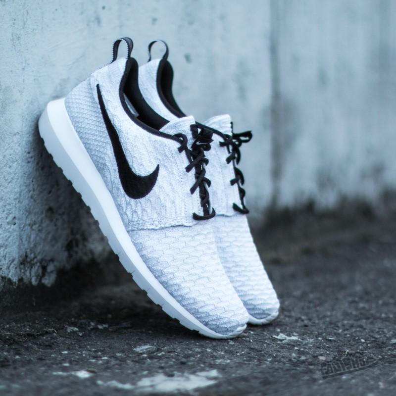 9f34abd95682 Nike Flyknit Rosherun White Black-Wolf Grey-Pure Platinum