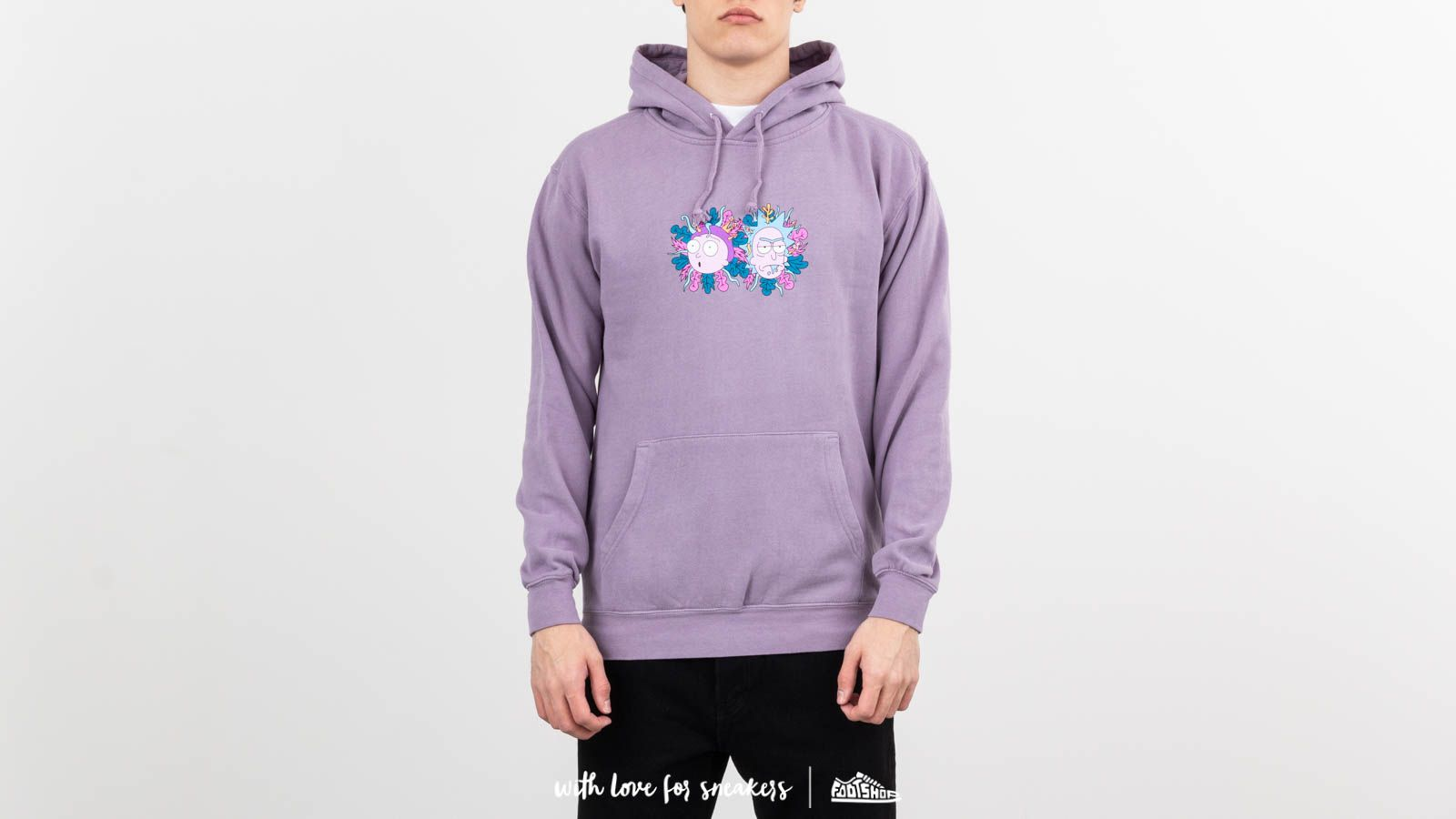 Primitive x Rick and Morty Dirty Hoodie Lavender