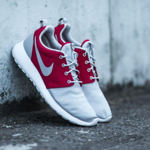 sports shoes 314b3 7143b Nike Rosherun Wolf Grey/Wolf Grey-Gym Red-White | Footshop