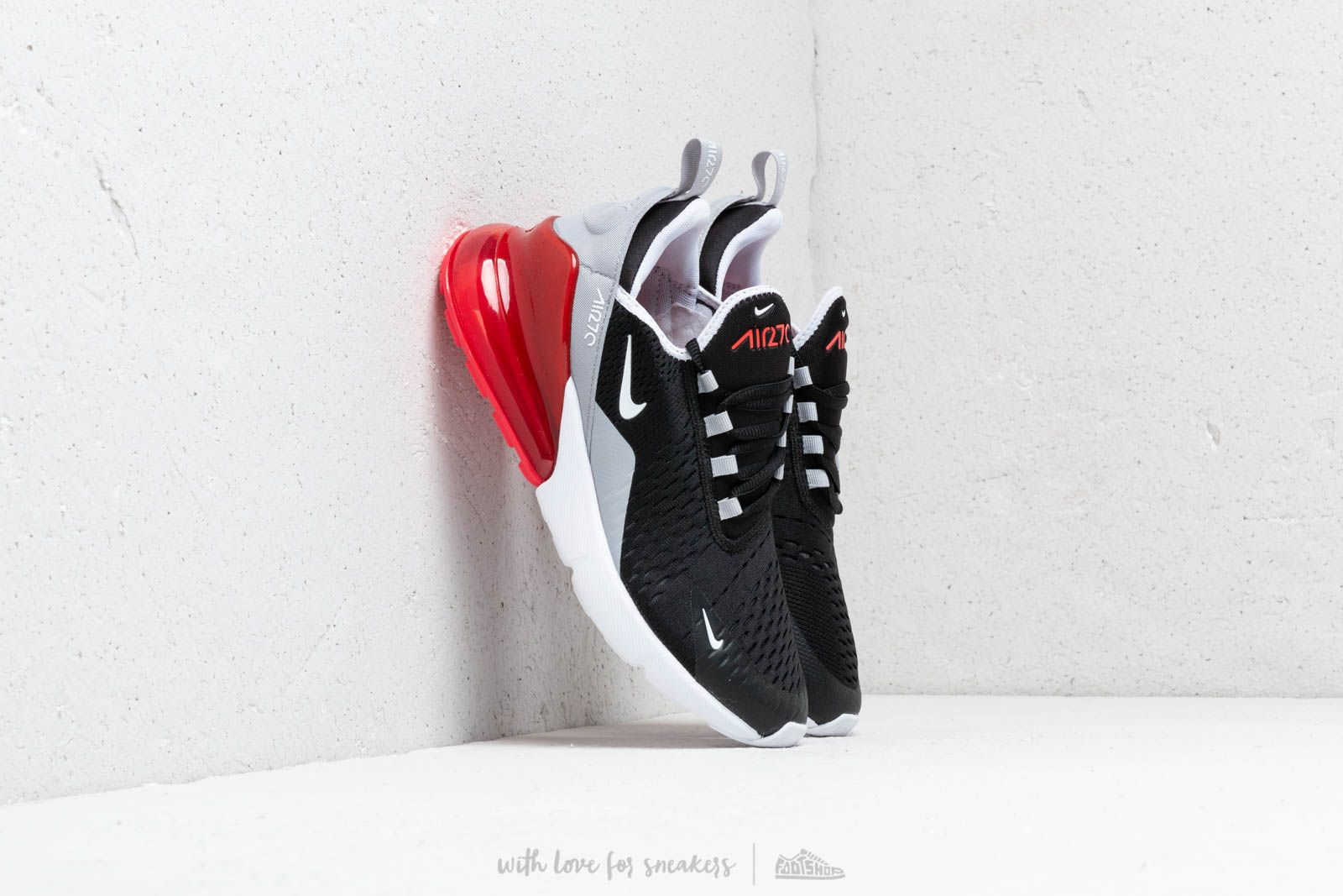 Nike Air Max 270 (GS) Black/ White-Ember Glow-Wolf Grey