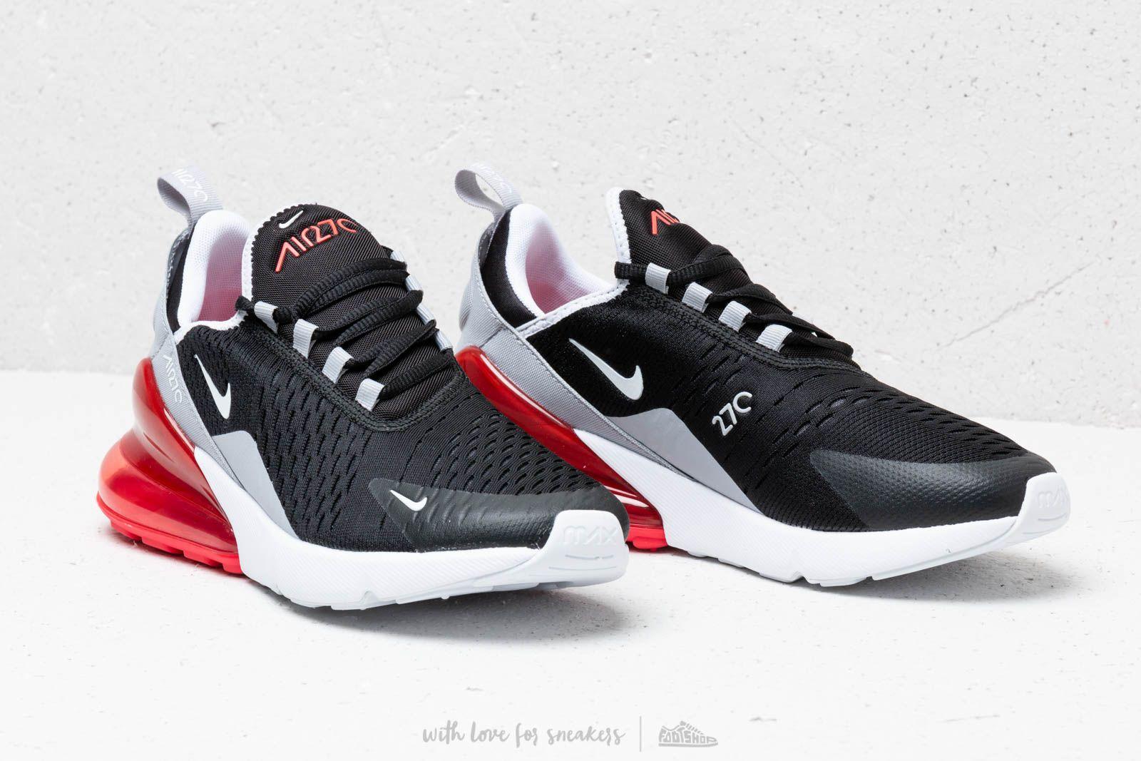 Nike Air Max 270 (GS) Black White Ember Glow Wolf Grey