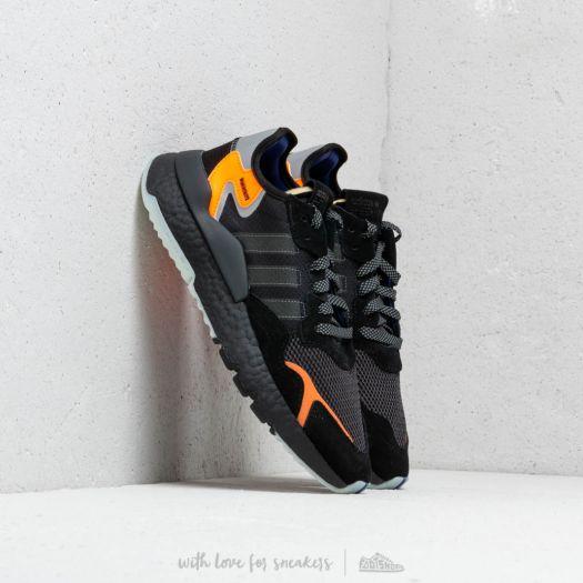 adidas Nite Jogger Core Black Carbon Active Blue | Footshop