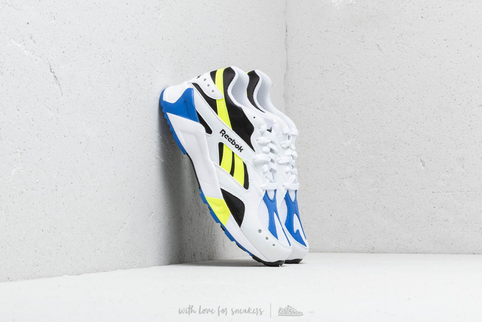 878ae788f31 Reebok Aztrek White  Black  Cobalt  Yellow at a great price  108 buy at