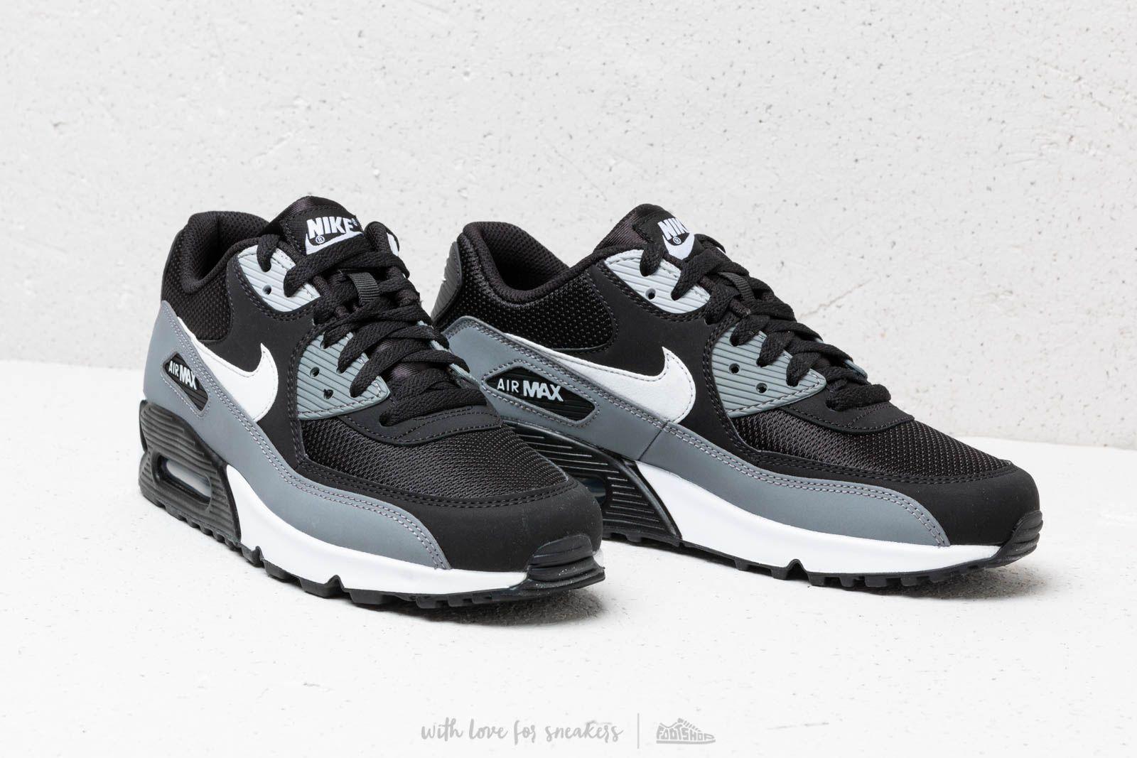 Nike Air Max 90 Essential Black White Cool Grey Anthracite | Footshop