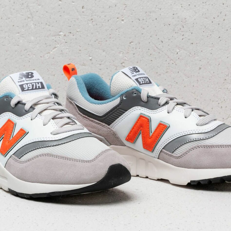 New Balance 997 White/ Orange/ Grey