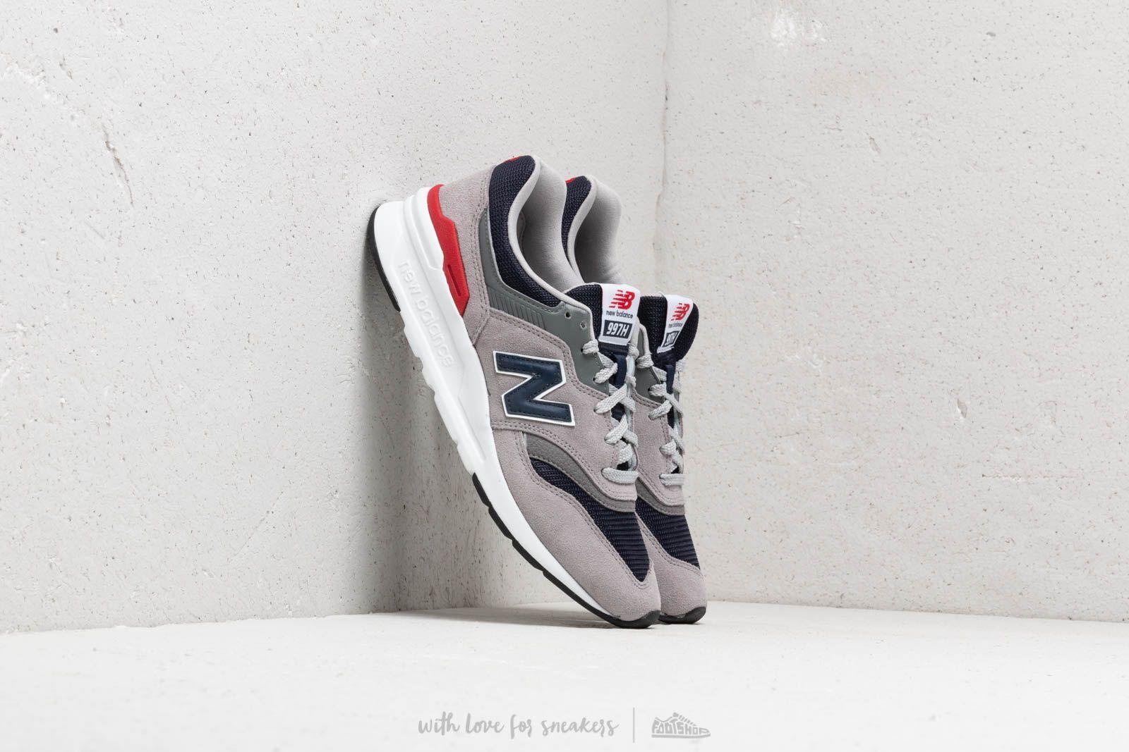 promoción especial zapatos para correr mejor online New Balance 997 Grey/ Navy/ Red/ White