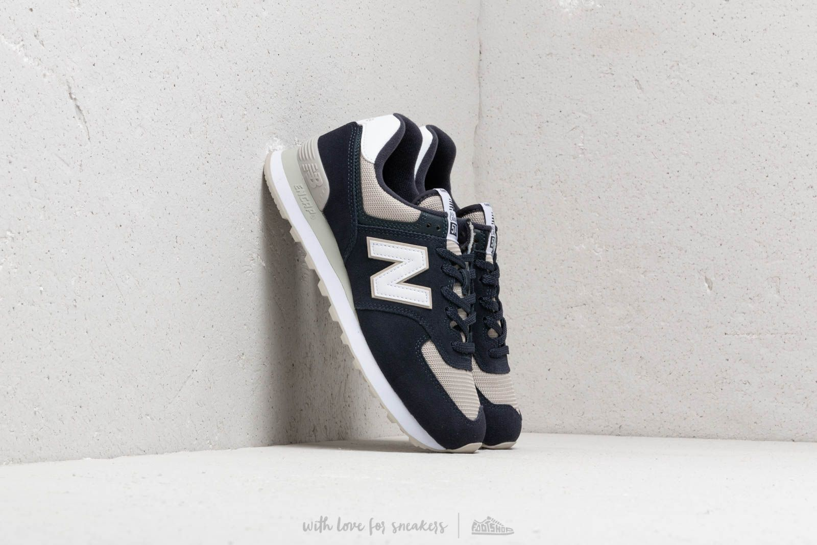 aed0474abe2 New Balance 574 Navy  Beige  White at a great price £76 buy at