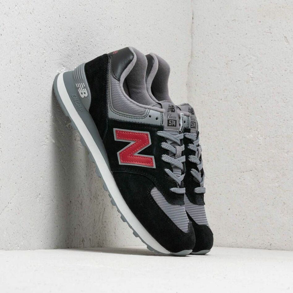 New Balance 574 Black/ Grey/ Red EUR 42