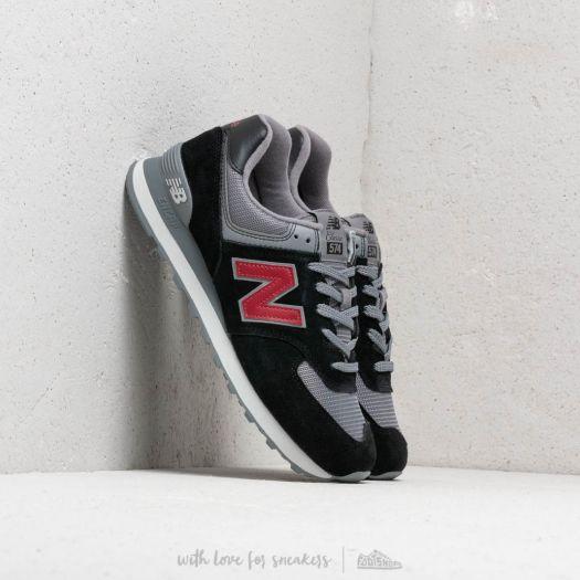 wholesale dealer 97e84 5d77a New Balance 574 Black/ Grey/ Red | Footshop