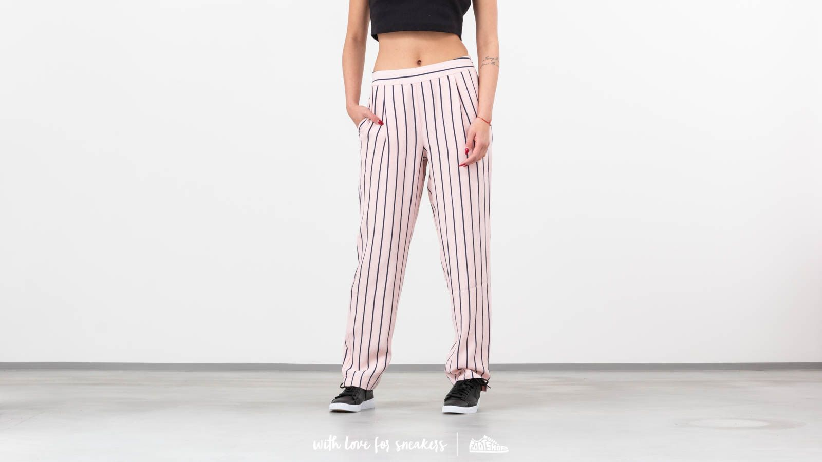 Broeken en spijkerbroeken Selected Ankle Pants Pink Dogwood/ Dark Sapphire