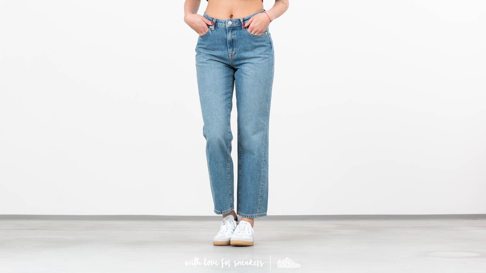 Дънки и панталони SELECTED Jane Straight Mineral Blue Jeans Light Blue Denim