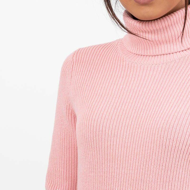 SELECTED Ellie Long Sleeve Knit Rollneck Powder Pink