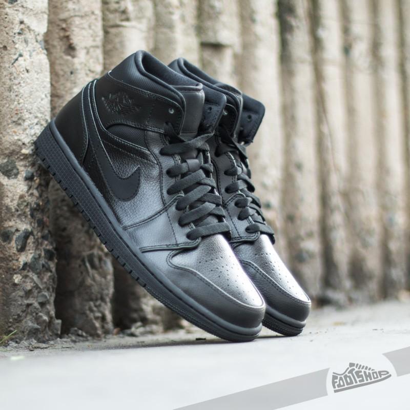 new product bfa9c 70389 Air Jordan 1 Mid Black Black-Black