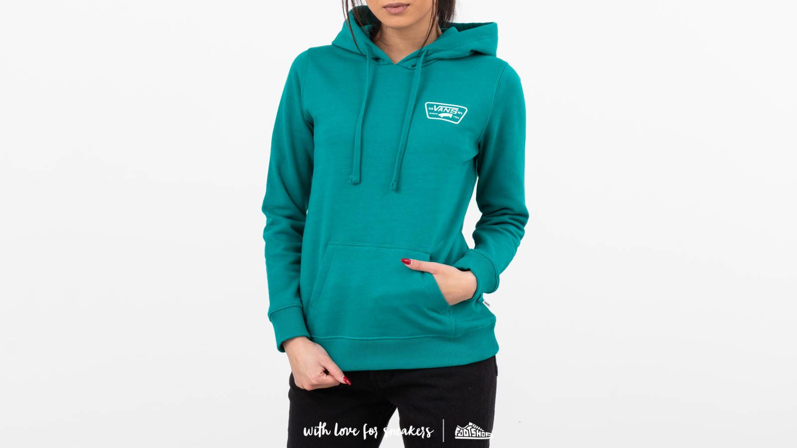 5b5a124f63 Vans Full Patch Classic Hoodie Green at a great price £43 buy at Footshop