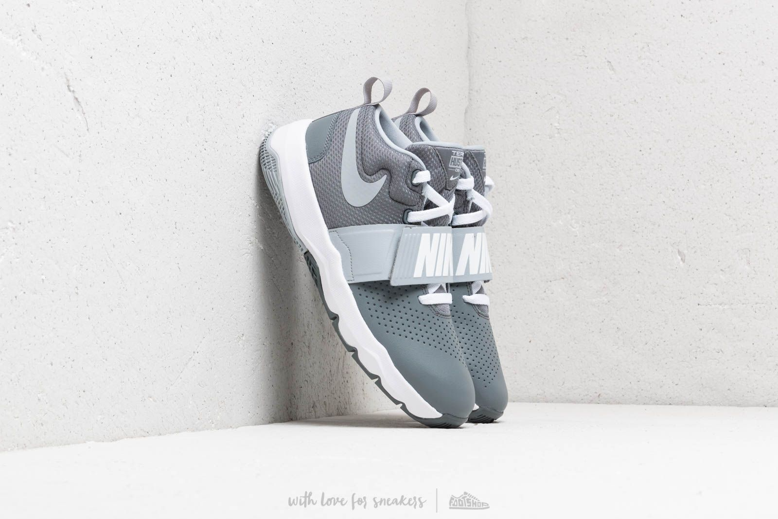 Nike Team Hustle D 8 (GS) Cool Grey/ Wolf Grey-White at a great price 48 € buy at Footshop