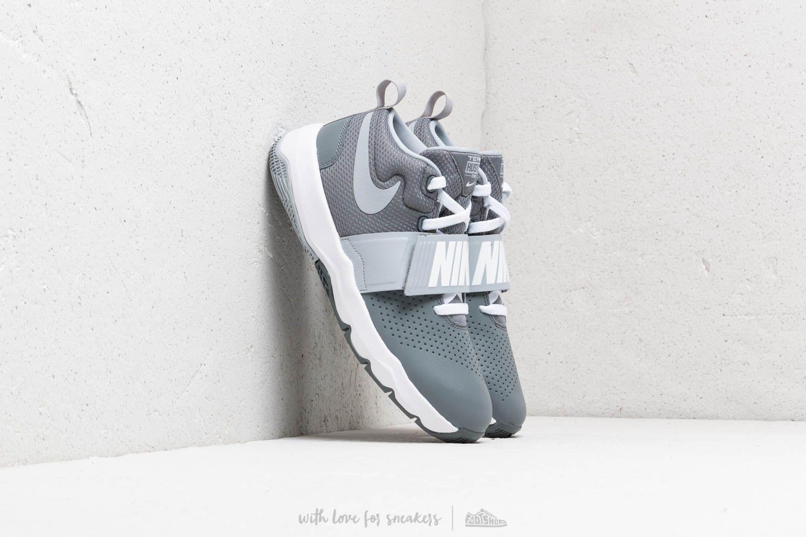Nike Team Hustle D 8 (GS) Cool Grey/ Wolf Grey-White