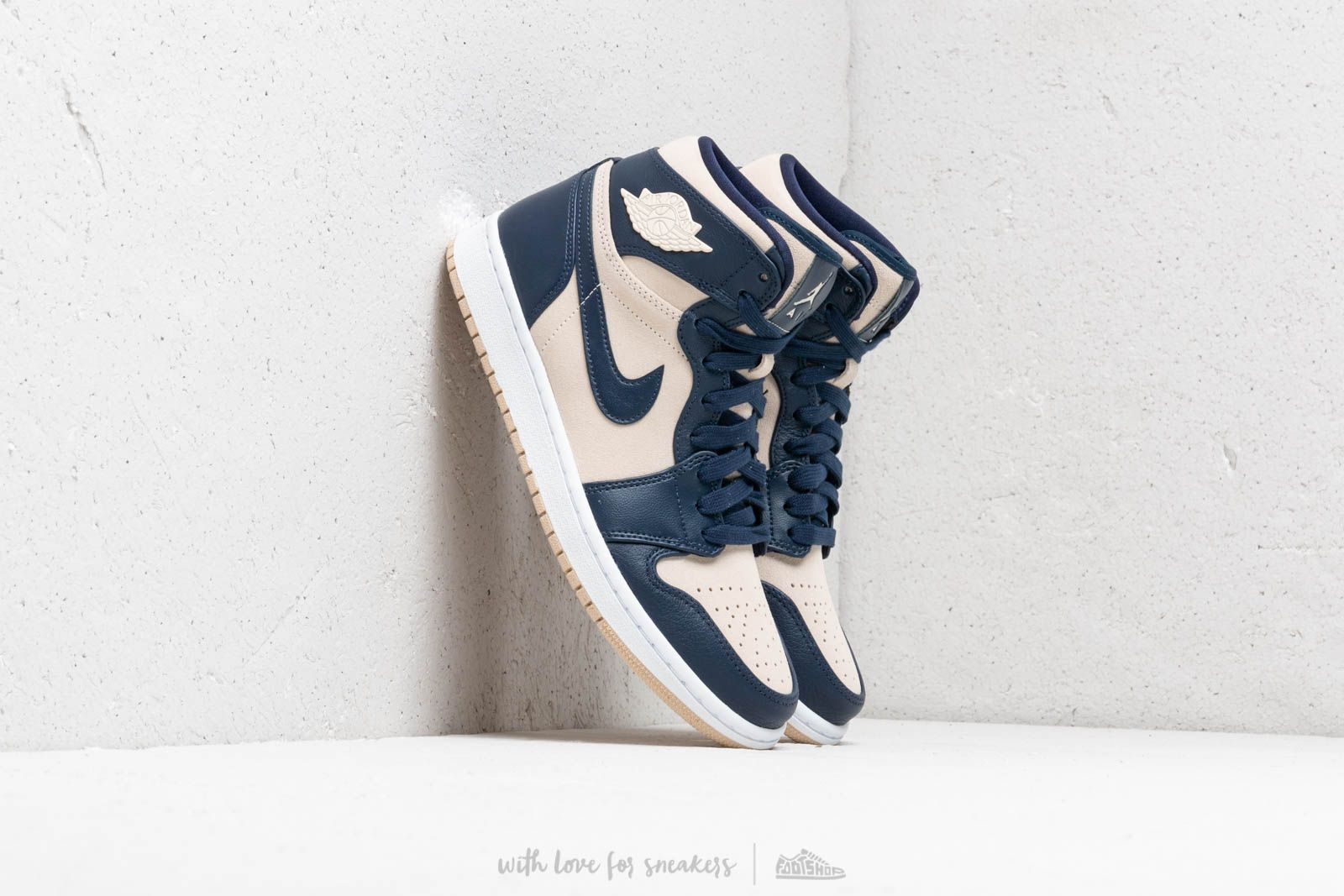 d6ee98d803f Air Jordan Wmns 1 Retro Prem Midnight Navy/ Light Cream-White | Footshop