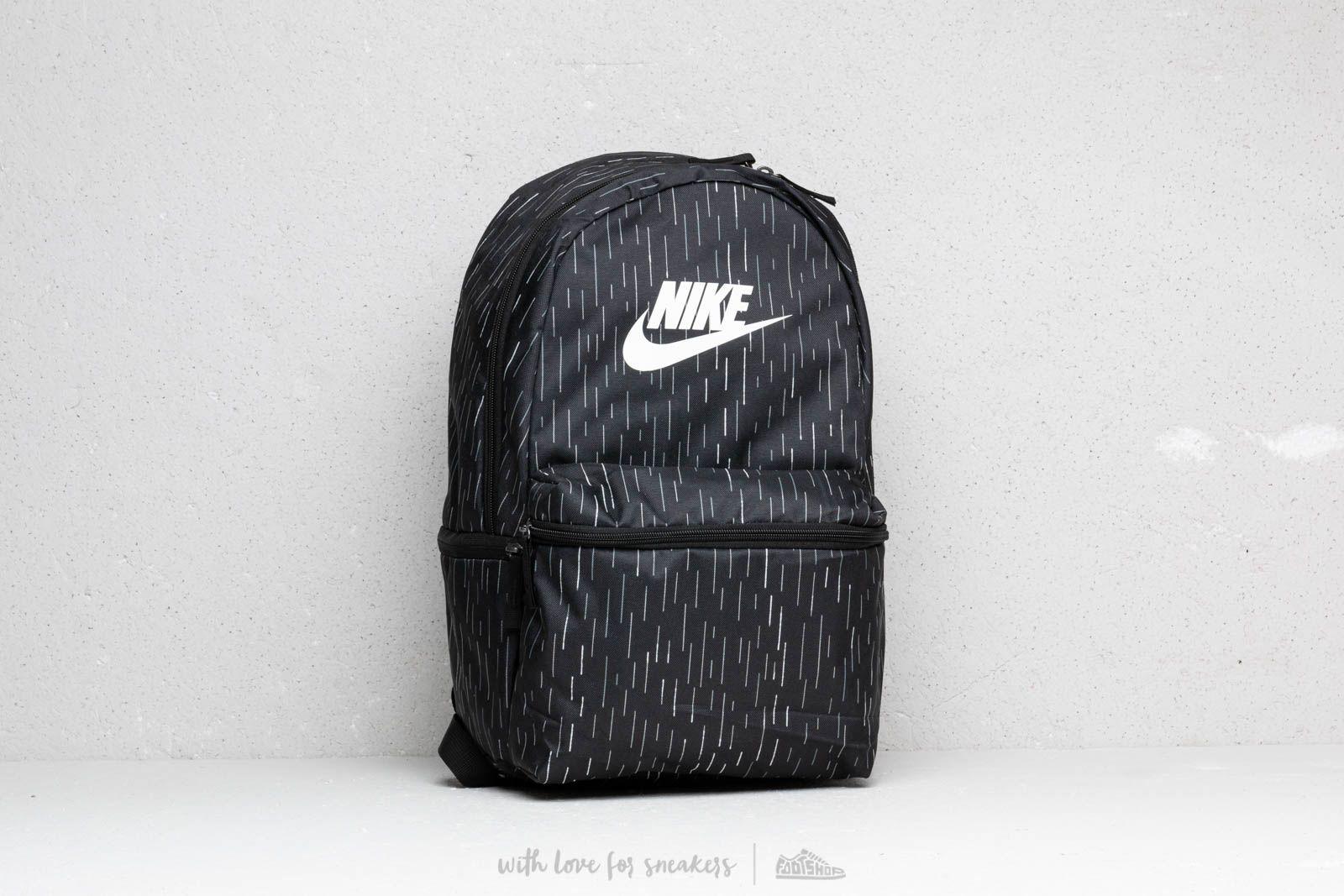 3236686ad1289 Nike Heritage All Over Print Backpack Black | Footshop