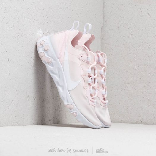 Nike W React Element 55 Pale Pink White White Pale Pink | Footshop