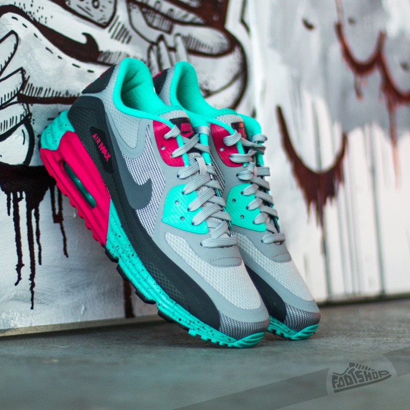 Consulado Malawi Descuido  Women's shoes Nike Air Max Lunar90 WR Silver/Dark Grey/Anthracite/Fuschia  Frolic | Footshop