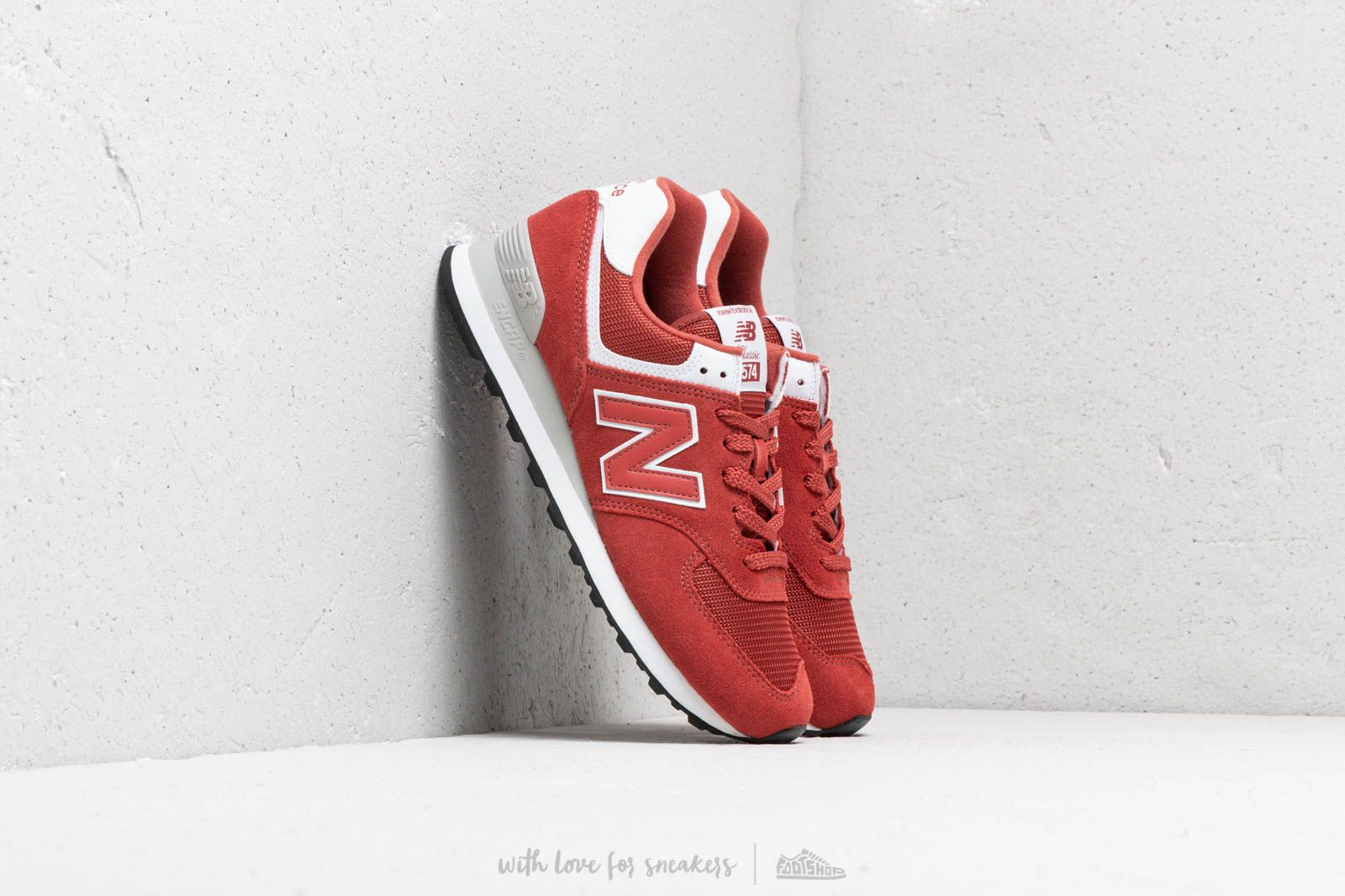official photos 81102 4dd87 New Balance 574 Red/ White   Footshop