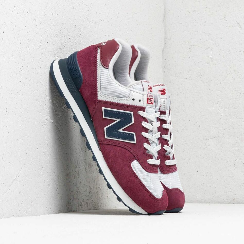 New Balance 574 Burgundy/ Navy/ White EUR 41.5