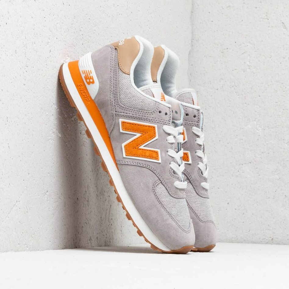 New Balance 574 Grey/ Orange/ White EUR 41.5