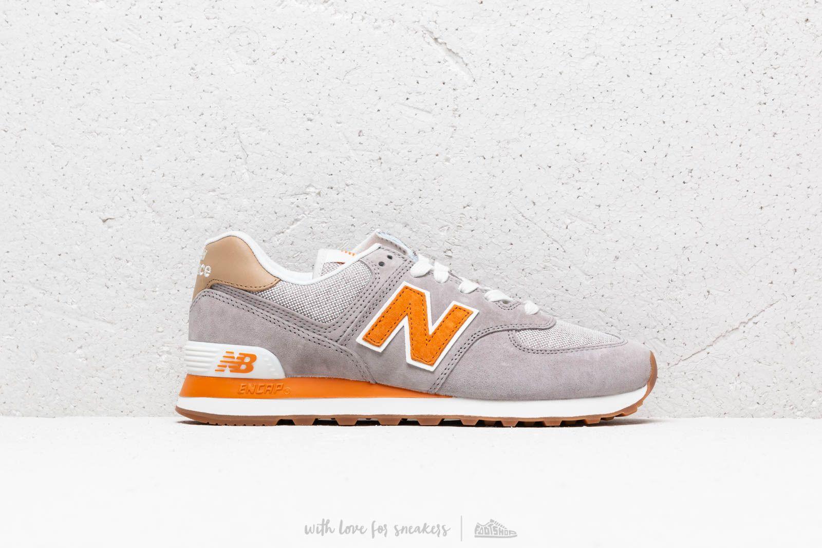 new balance 574 grey orange