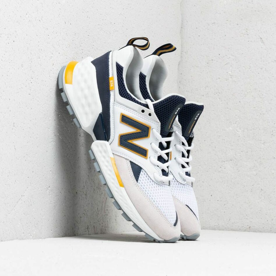 New Balance 574 White/ Blue/ Yellow EUR 44.5