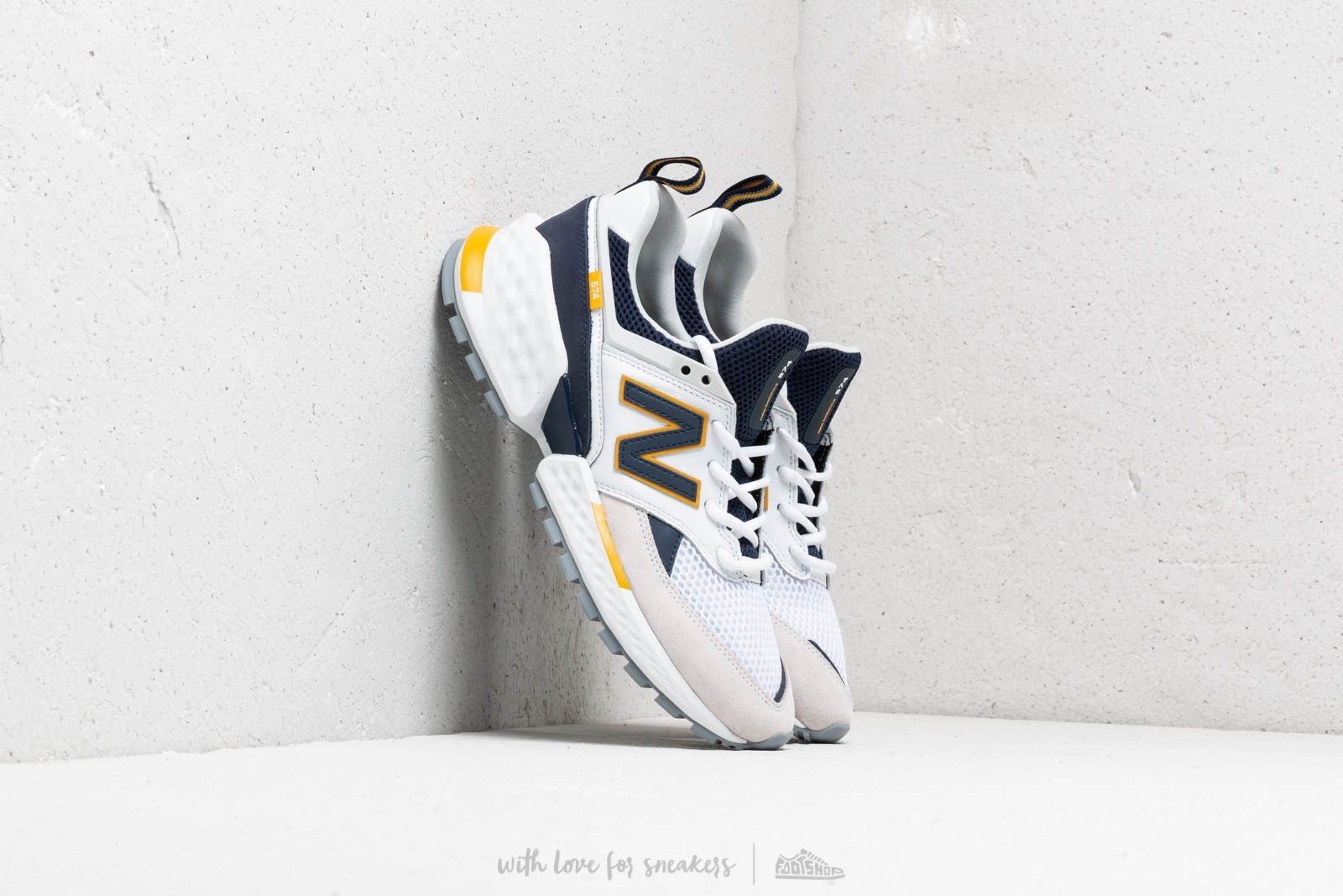 New Balance 574 White/ Blue/ Yellow at a great price 121 € buy at Footshop