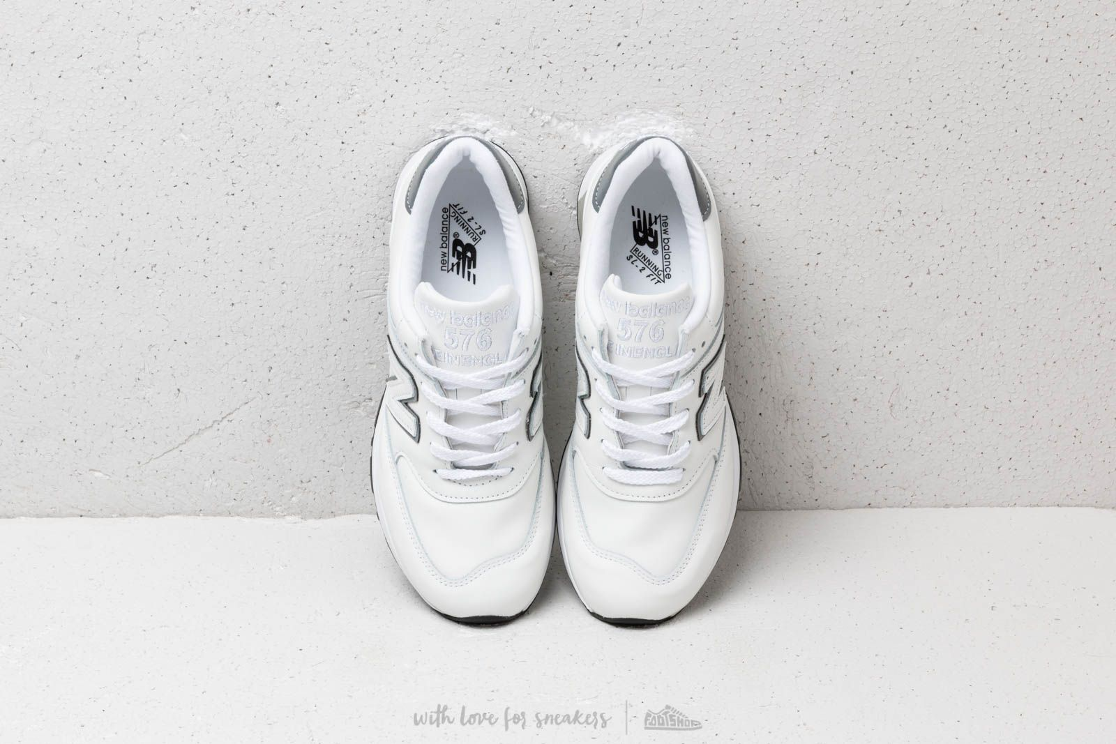 quality design b5c23 71179 New Balance 576 White   Footshop
