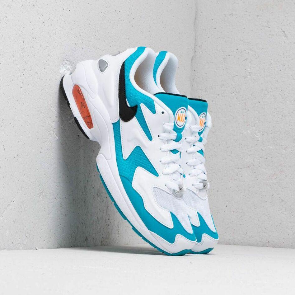 """Nike Air Max 2 Light OG """"Dolphins"""" White/ Black-Blue Lagoon-Laser Orange"""