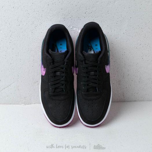 Nike Air Force 1 '07 Premium 2 Black Active Fuchsia Blue Lagoon White | Footshop