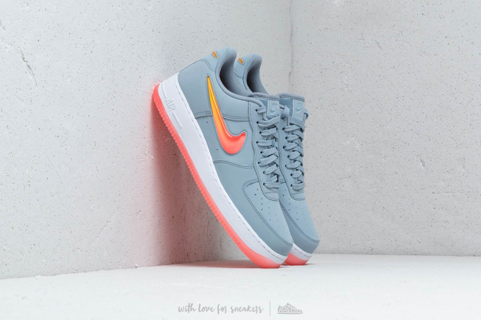 8c00203417 Nike Air Force 1 '07 Premium 2 Obsidian Mist/ Hot Punch-University ...