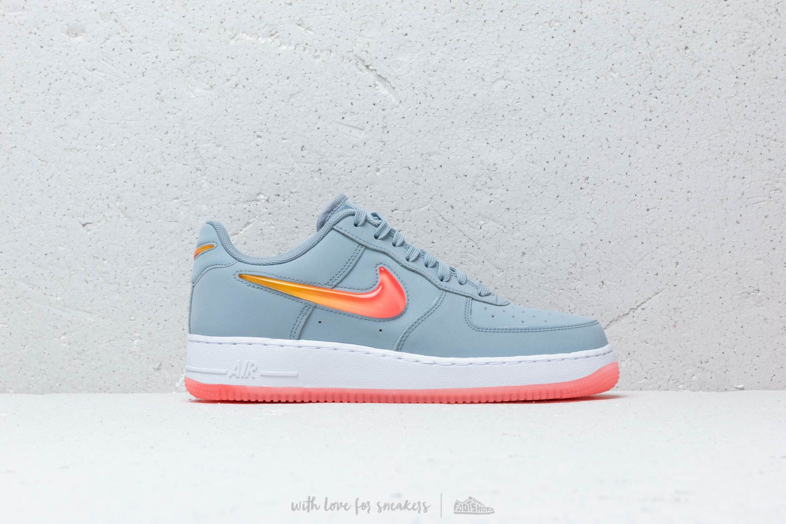 new product 41a79 ad1c6 Nike Air Force 1 07 Premium 2 Obsidian Mist Hot Punch-University Gold