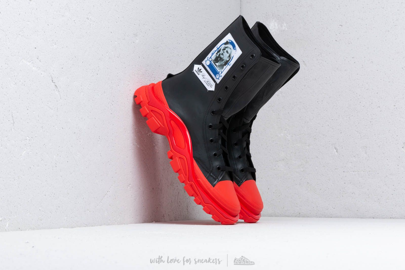 adidas x Raf Simons Detroit High Core Black/ Ftw White/ Red at a great price 425 € buy at Footshop